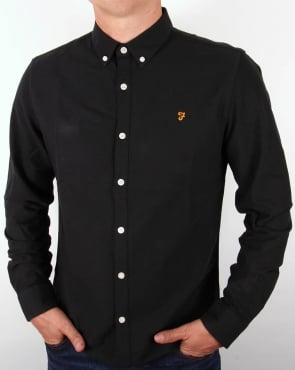 Farah Brewer Shirt Black