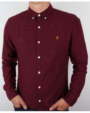 Farah Brewer Shirt Burgundy