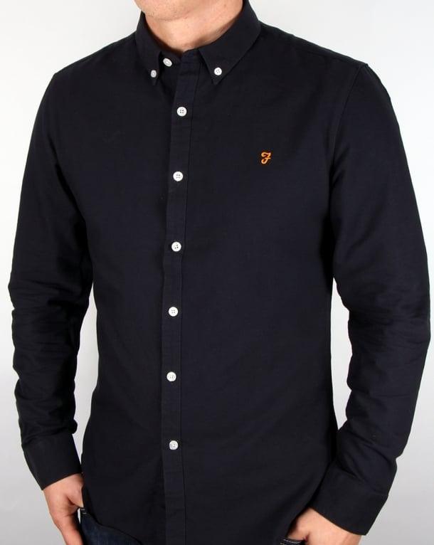 Farah Brewer Shirt Navy