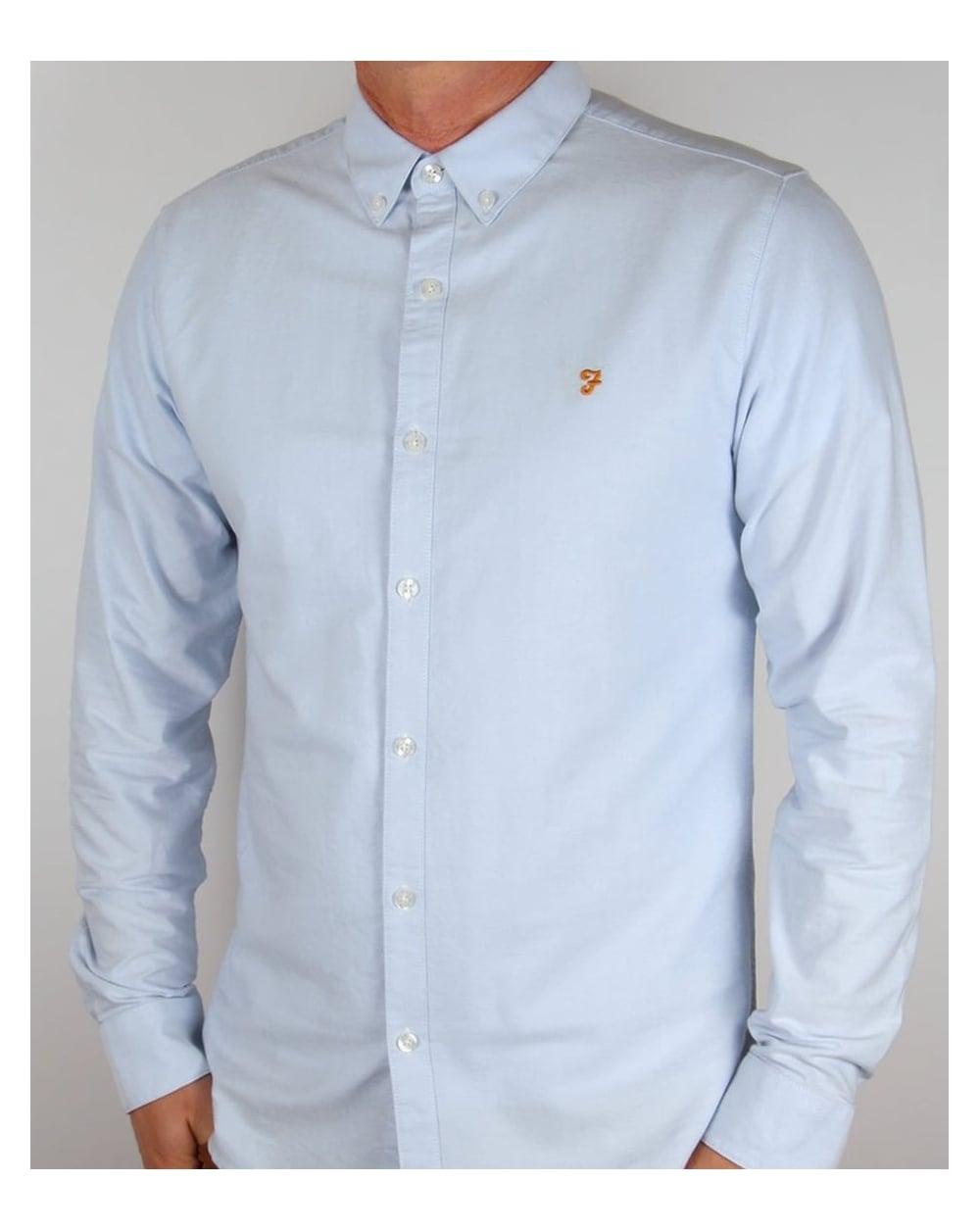 Farah Farah Brewer Shirt Sky Blue 17781766f