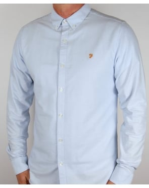 Farah Brewer Shirt Sky Blue