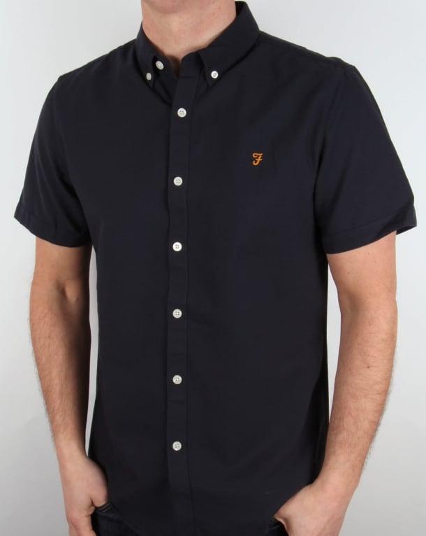 Farah Brewer Short Sleeve Shirt Navy