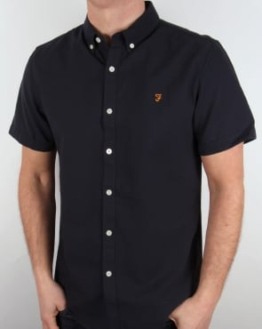 Farah Brewer Short Sleeve Shirt Navy