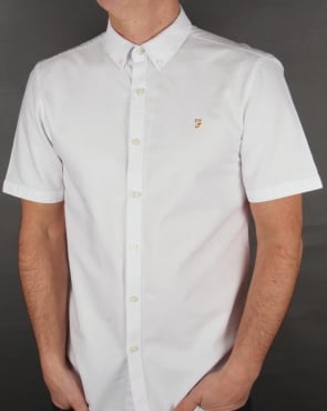 Farah Brewer Short Sleeve Shirt White