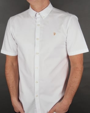 Farah Brewer Short Sleeve Shirt White