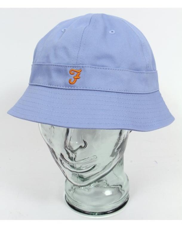 Farah Bucket Hat Polar Blue,cotton,mens