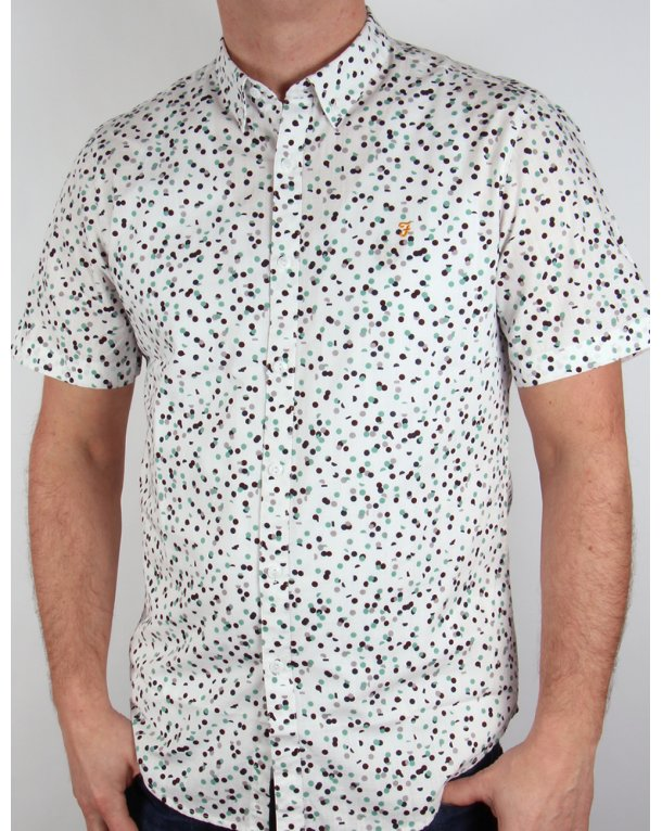 Farah Camble Short Sleeve Shirt Ecru