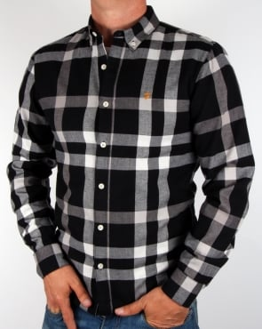 Farah Chapel Check Shirt Black