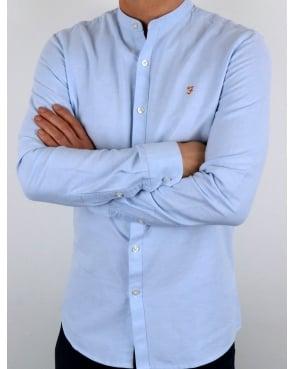 Farah Classic Grandad Collar Shirt Sky Blue