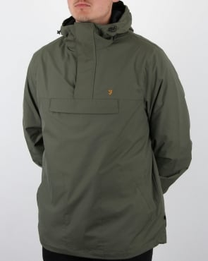 Farah Clydesdale Overhead Jacket Military Green
