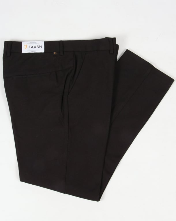 Farah Farah Denby Rigid Hopsack Trousers Black