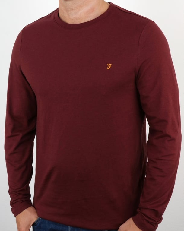 Farah Denny Long Sleeve T-shirt Farah Red Marl