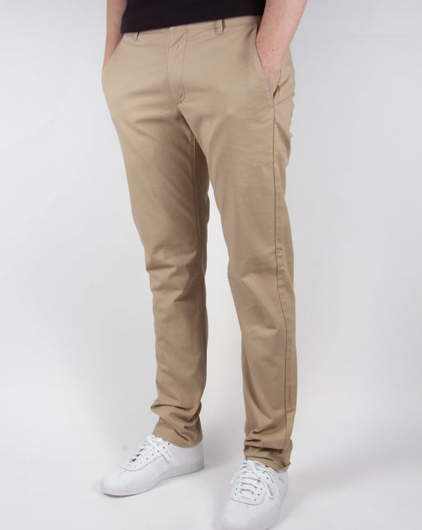 Farah Elm Chino Twill Trousers Light Sand
