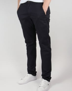 Farah Elm Chino Twill Trousers True Navy