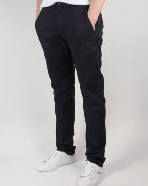 Farah Elm Chino Twill Trousers True Navy