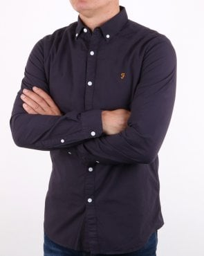 Farah Farley Long Sleeve Shirt True Navy