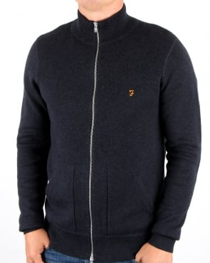 Farah Fermoy Knitted Track Top True Navy Marl
