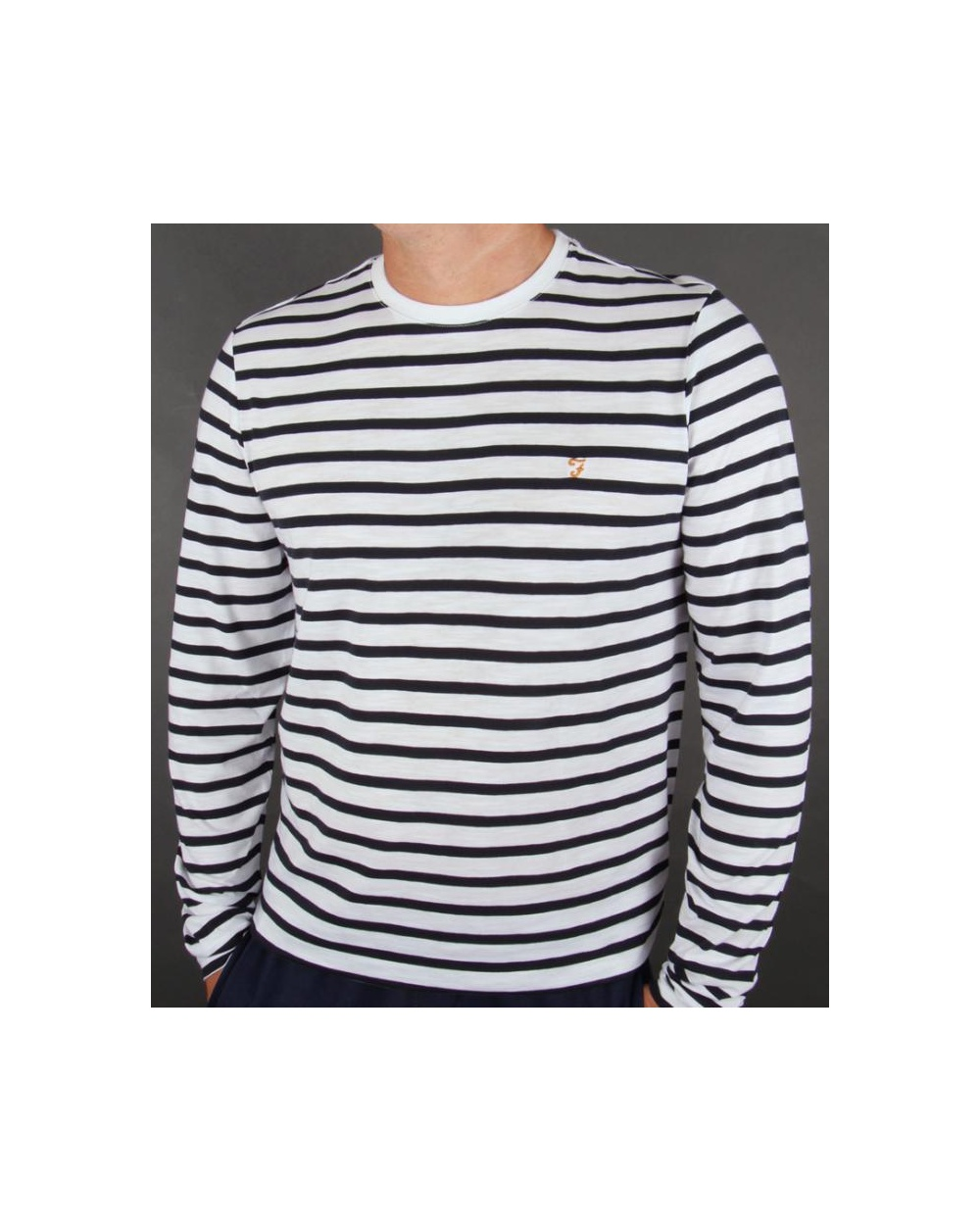 Long Sleeved Striped, Half Zipper, Button Pocket – Hickory (% Cotton Reg & Tall).
