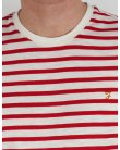 Farah Gieger Striped T-shirt White/red