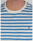 Farah Gieger Striped T-shirt White/Royal Blue