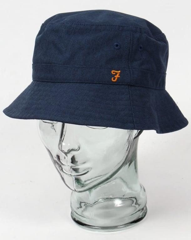 Farah Gratton Bucket Hat Navy