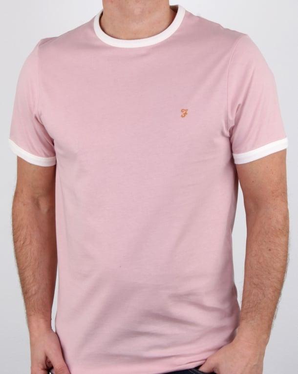 Farah Groves Ringer T Shirt Rose