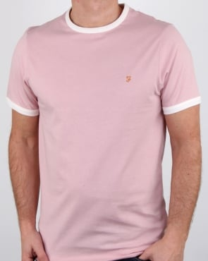 Farah Groves Ringer T Shirt Rose