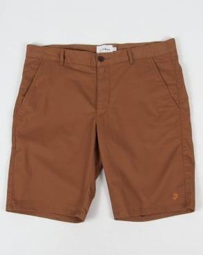 Farah Hawk Chino Twill Shorts Camel