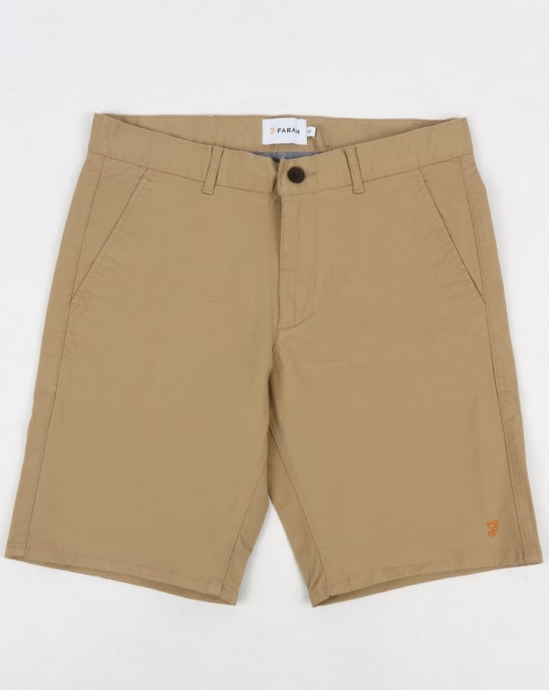 Farah Hawk Chino Twill Shorts Light Sand