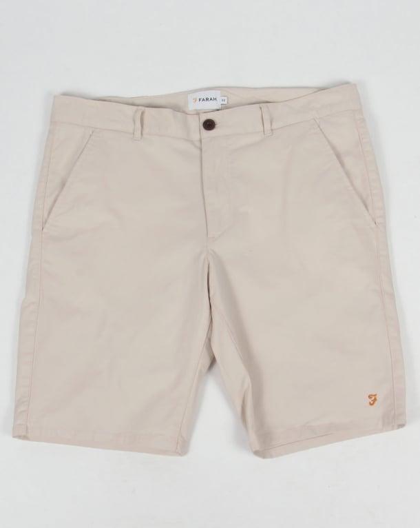 Farah Hawk Chino Twill Shorts Pebble