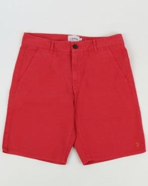 Farah Hawk Garment Dye Chino Shorts Fuschia