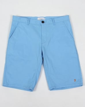 Farah Hawking Chino Shorts Bluebell