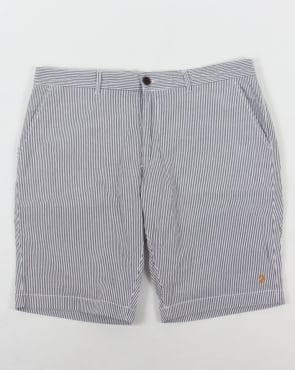 Farah Hawking Stripe Shorts White/Navy