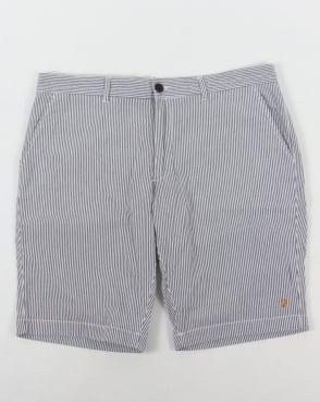 Farah Hawking Stripe Shorts White/Navy