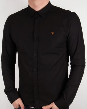 Farah Larch Slim Fit Shirt Black