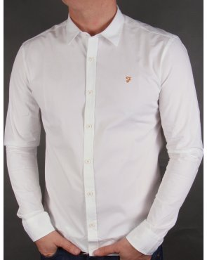 Farah Larch Slim Fit Shirt White