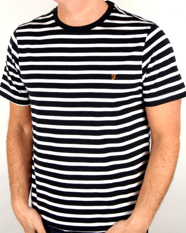 Farah Lennox Striped T Shirt White