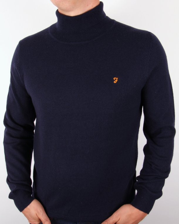 Farah Mcpate Knitted Roll Neck Navy