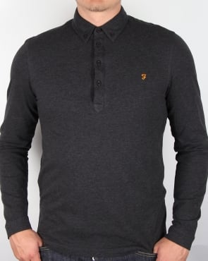 Farah Merriweather Polo Shirt Coal Grey