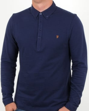 Farah Merriweather Polo Shirt in fresh Navy