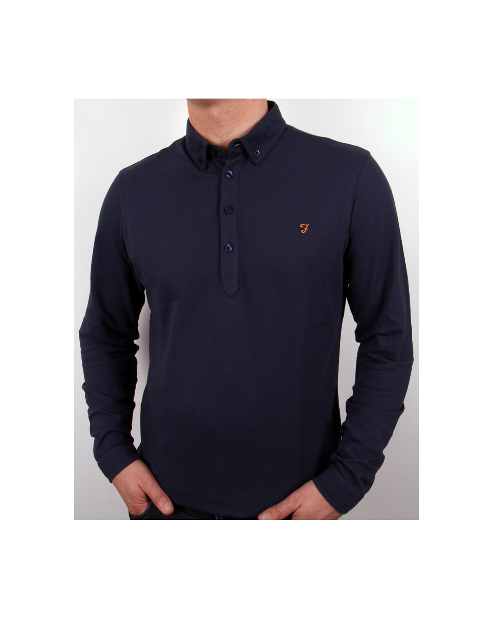 Farah Farah Merriweather Polo Shirt Navy Blue 334c1592d17e