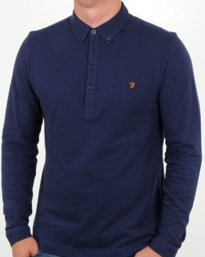 Farah Merriweather Polo Shirt Ultramarine Marl
