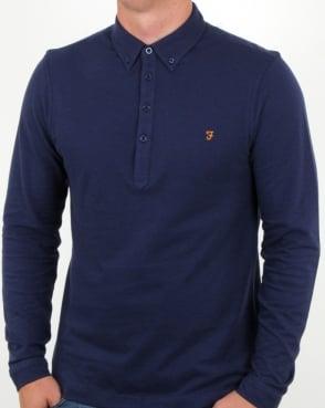 Farah Merriweather Polo Shirt Ultramarine Marl