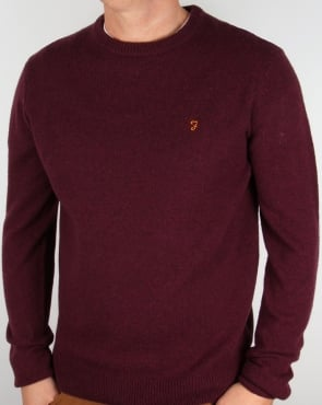 Farah Rosecroft Jumper Bordeaux
