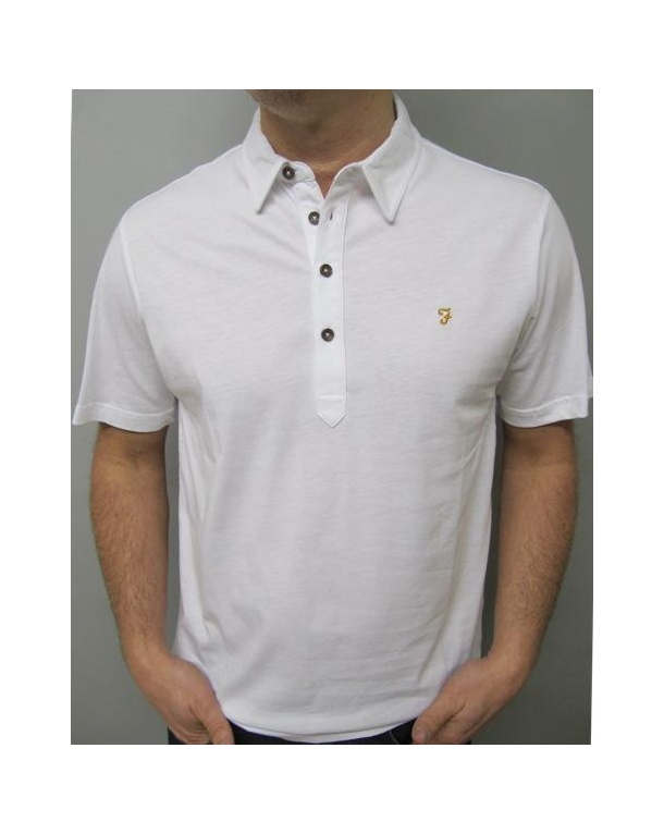 Farah Samuel Polo Shirt White