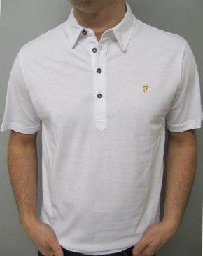 Farah Samuel Polo Shirt White