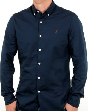 Farah Smarter Poplin Shirt True Navy