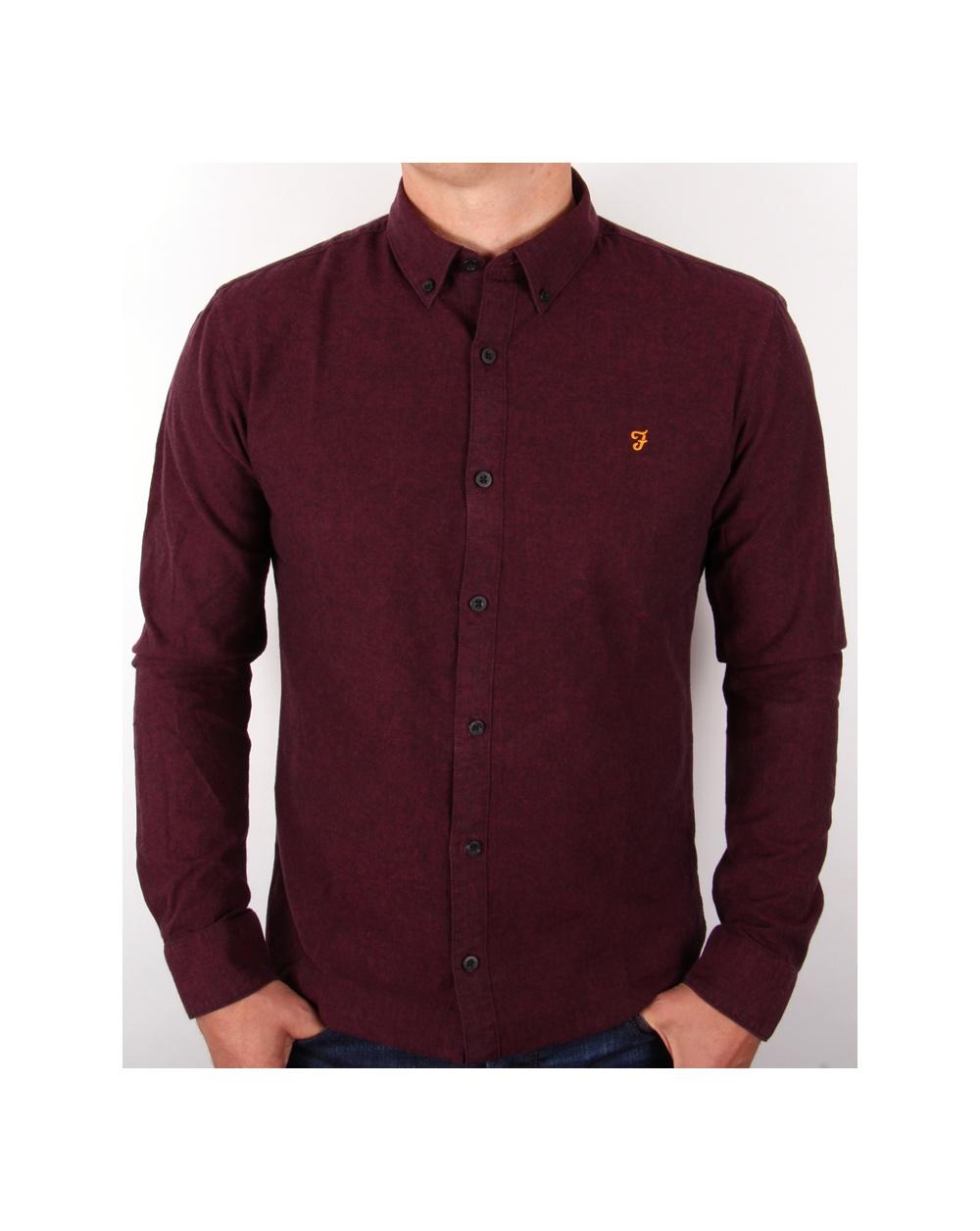 Burgundy Shirt Mens