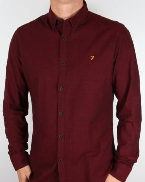 Farah Steen Shirt Currant