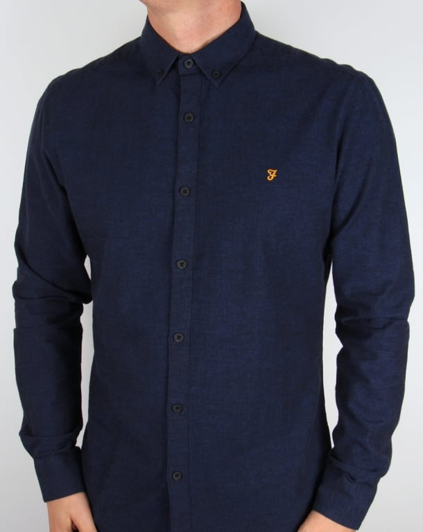 Farah Steen Shirt True Blue